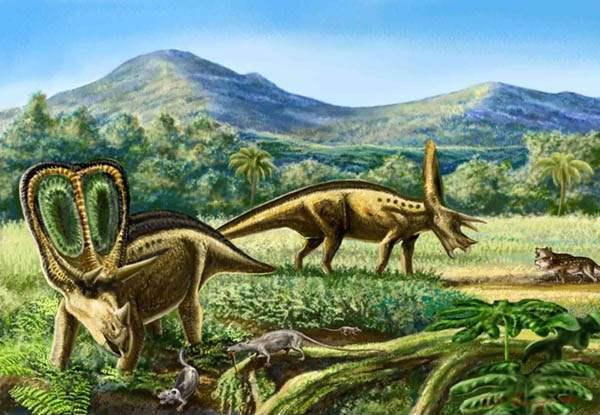 图片:白垩纪恐龙,图片来自Google搜索。
