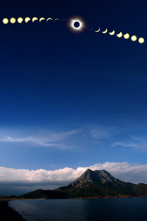 图片说明:日全食连续观测合成图