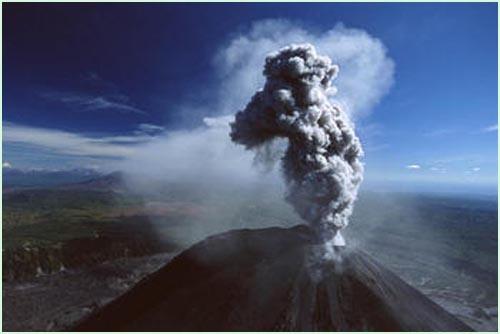 图片说明:俄罗斯Kamtchatka火山爆发