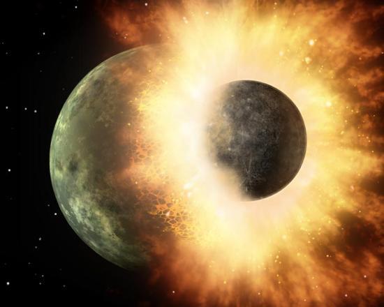 两颗行星的相撞事件发生在数千年前或者更久远的年代