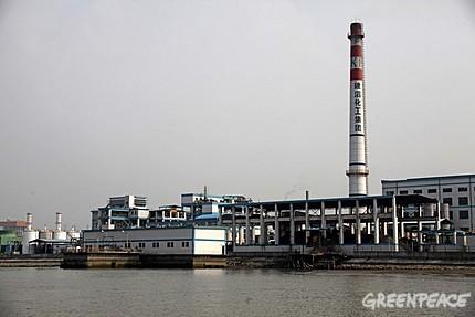 其中一个抽验水样本的地方:建滔(番禺南沙)工业区