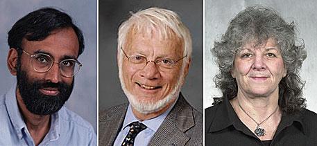 2009年诺贝尔化学奖获得者:万卡特拉曼-莱马克里斯南、托马斯-施泰茨和阿达-尤纳斯(从左至右).jpg