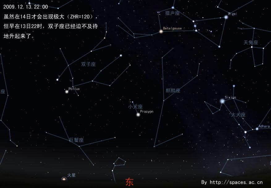 双子座流星雨200912132200