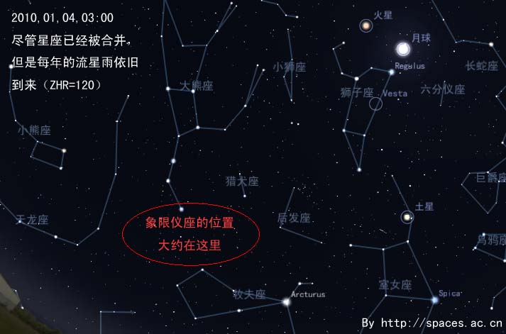 201001040300象限仪流星雨
