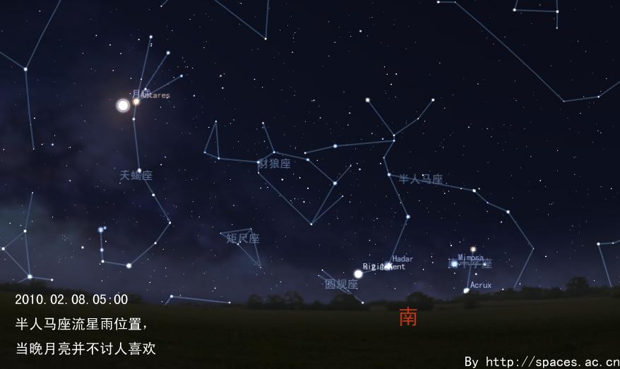 201002080500人马座流星雨.jpg