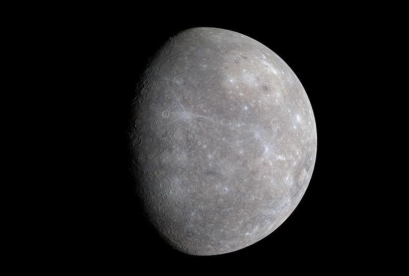 信使号的水星假色影像(维基百科)