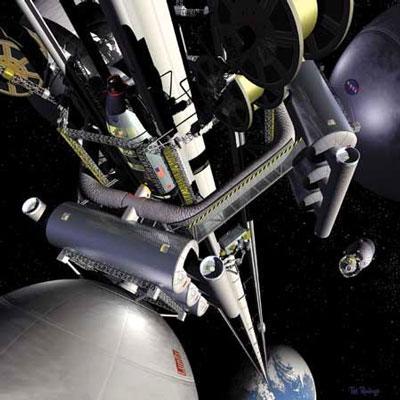 太空梯想象图