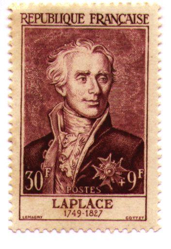 邮票上的拉普拉斯