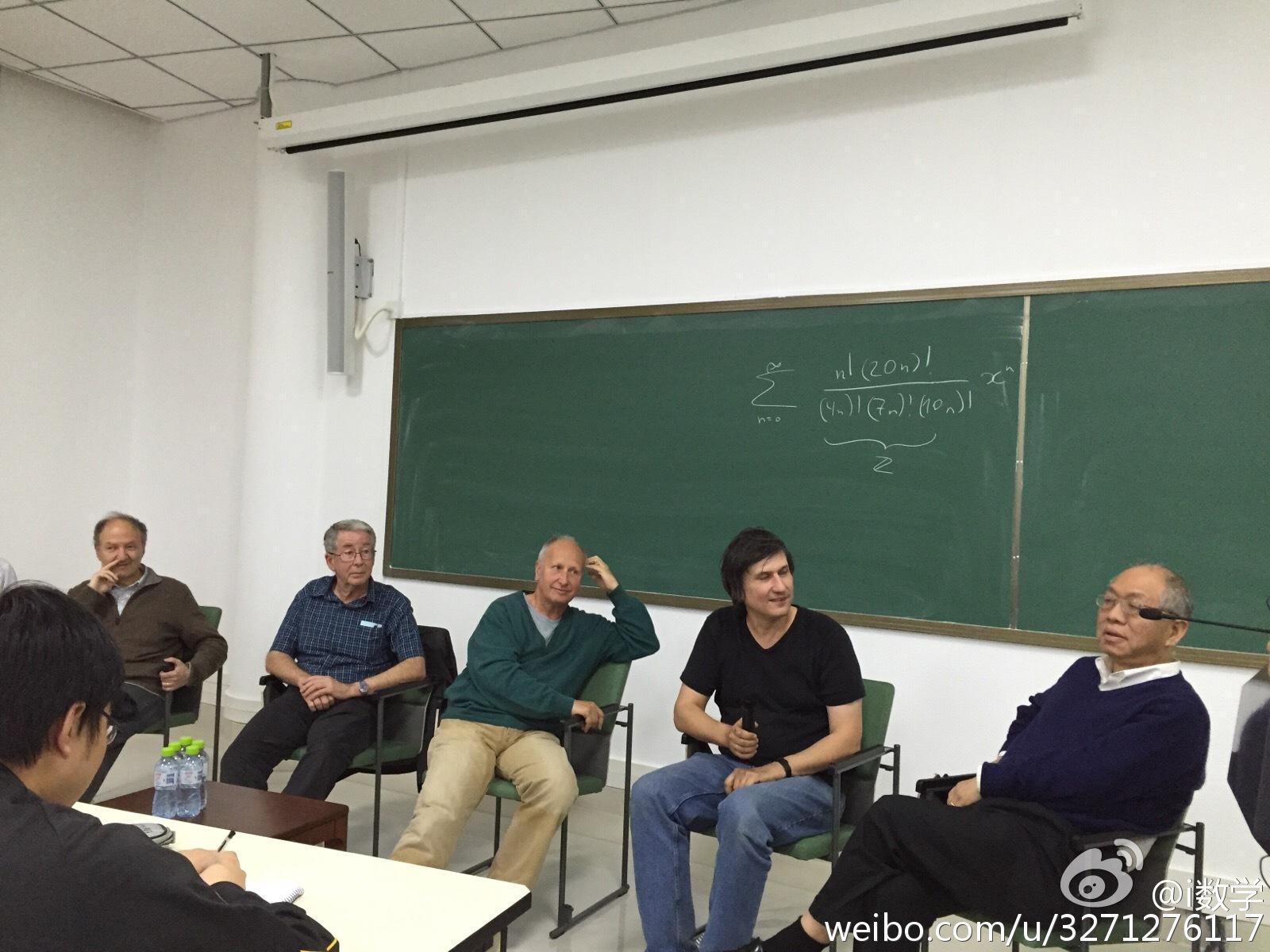 Knotsevich在黑板上写的级数题目