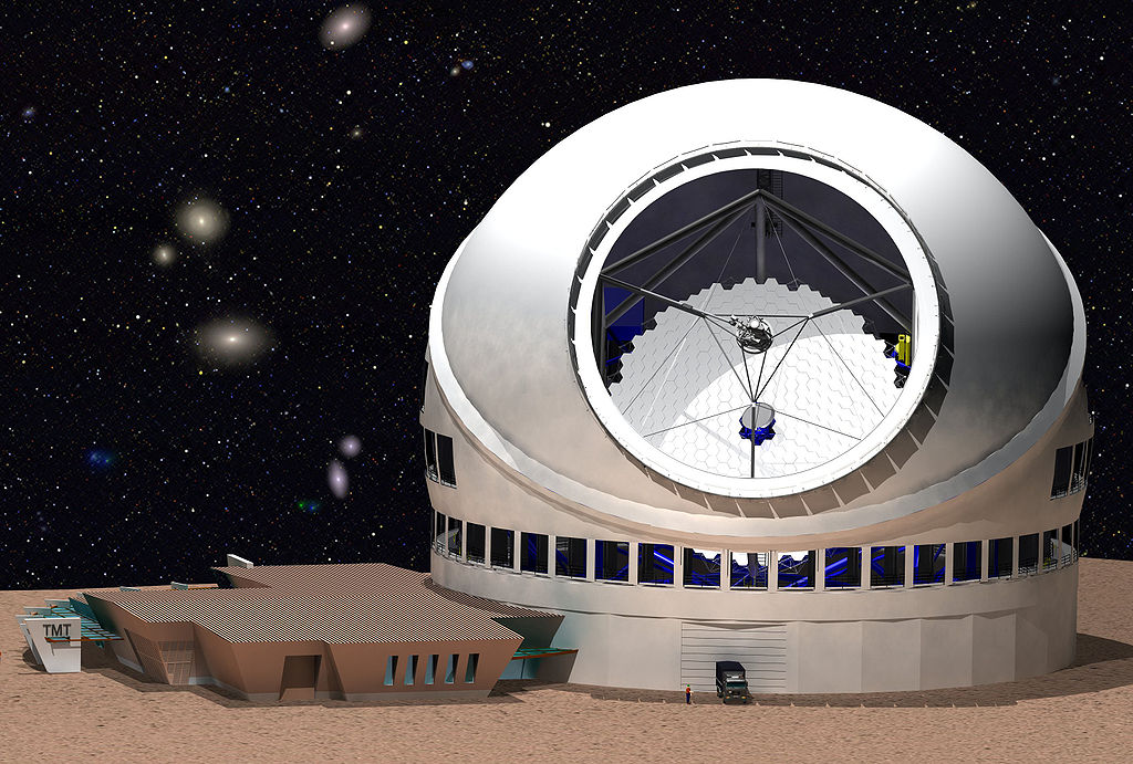 2007年末公布的30米望远镜效果图